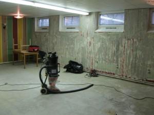 Festlokalen under renovering