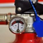 Manometer på brandsläckare